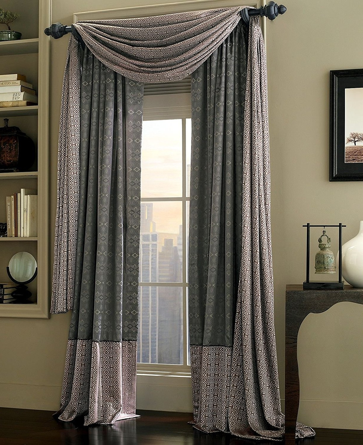 Decor: Gray Macys Curtains With Wall Art And Wall Shelves Plus Throughout Popular Macys Wall Art (Gallery 12 of 15)