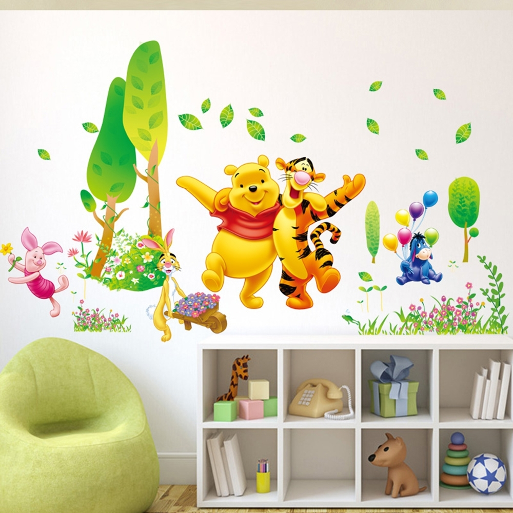 Decor Winnie The Pooh Wall Decals Kids Bedroom & Baby Nursery Inside Widely Used Winnie The Pooh Wall Decor (View 4 of 15)