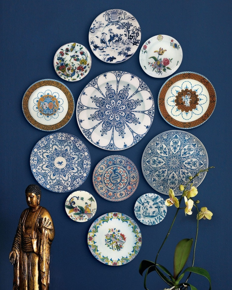 Decorating Ideas: Magnificent John Derian 12 Piece Of Art With Regard To Popular Decorative Plates For Wall Art (View 2 of 15)