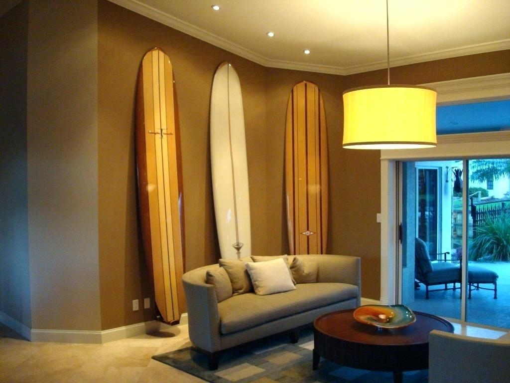 Decorations : Surfboard Decor Wall Holiday Sale 4Ft Pink Surfboard With 2017 Hawaiian Wall Art Decor (View 13 of 15)