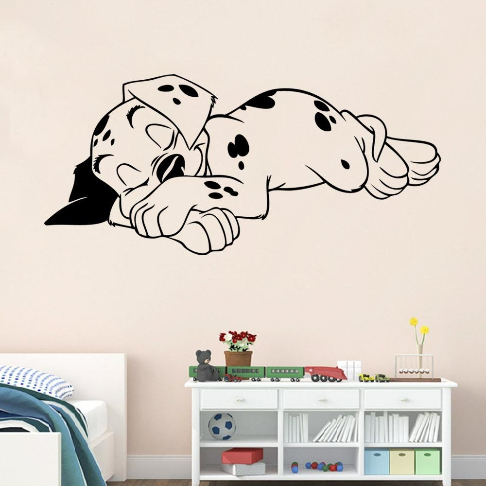 Decorative 3D Wall Art Stickers With Latest Sleeping Dog Wall Art Mural Decor Living Room Sleep Puppy (View 6 of 15)