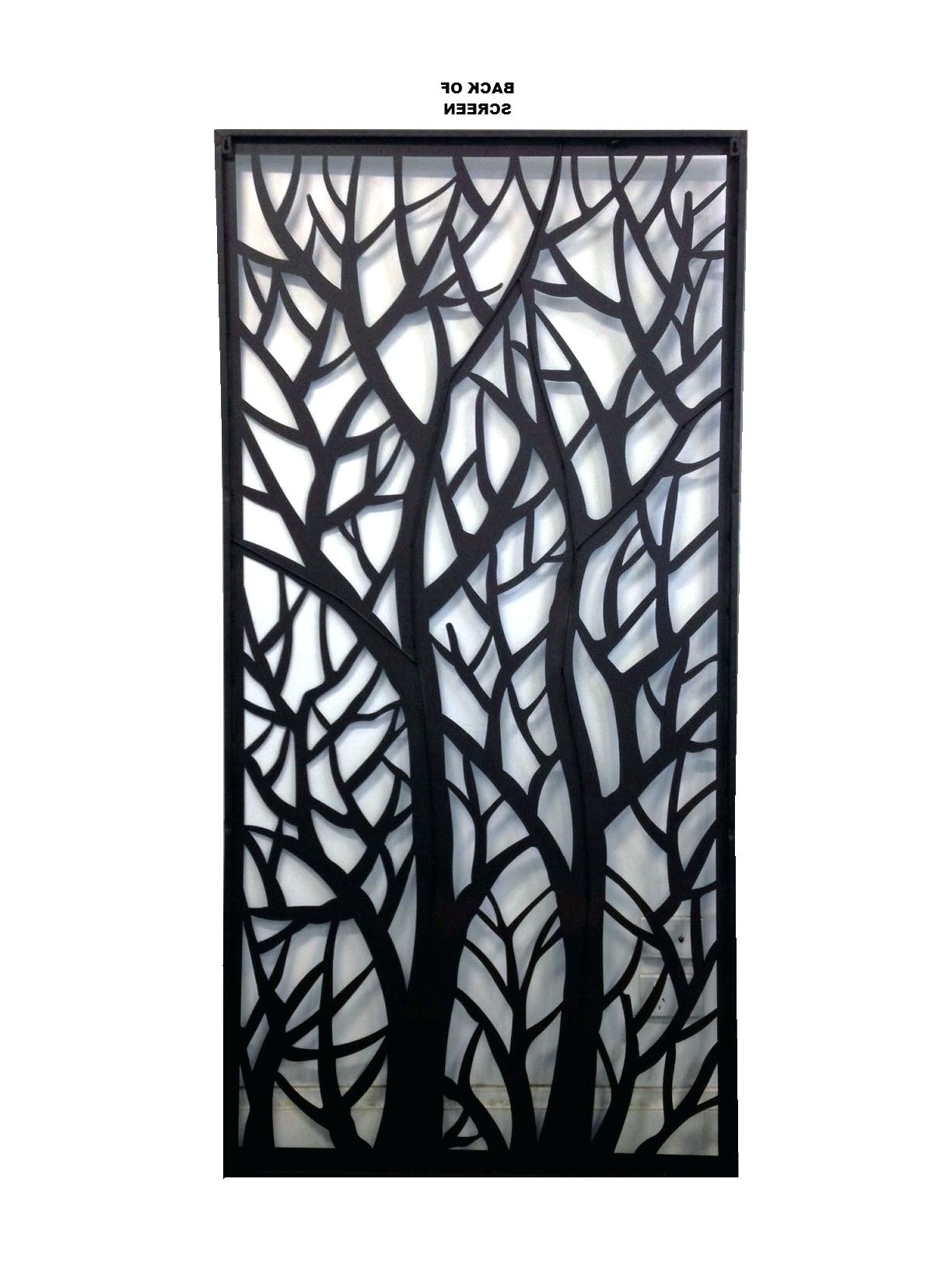 Decorative Metal Screens Wall Art Garden Ebaydecorative Bunnings With Regard To Well Liked Decorative Outdoor Metal Wall Art (View 2 of 15)