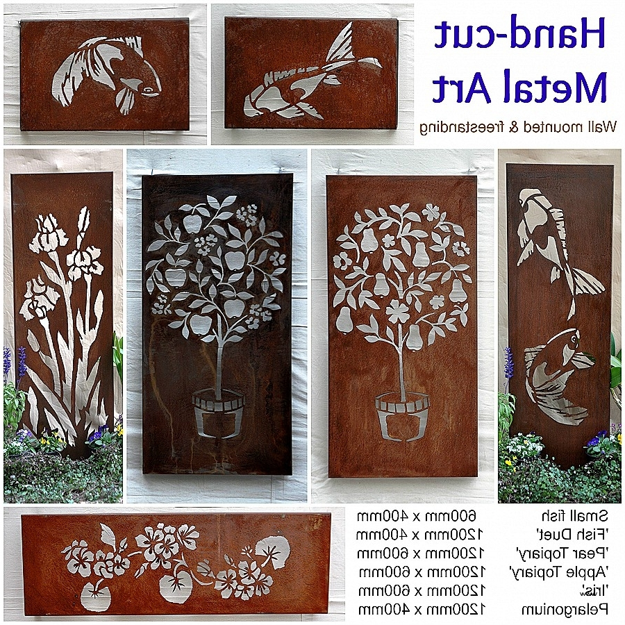 Decorative Wrought Iron Wall Art Fresh Decorative Metal Garden Within Trendy Wrought Iron Garden Wall Art (View 2 of 15)