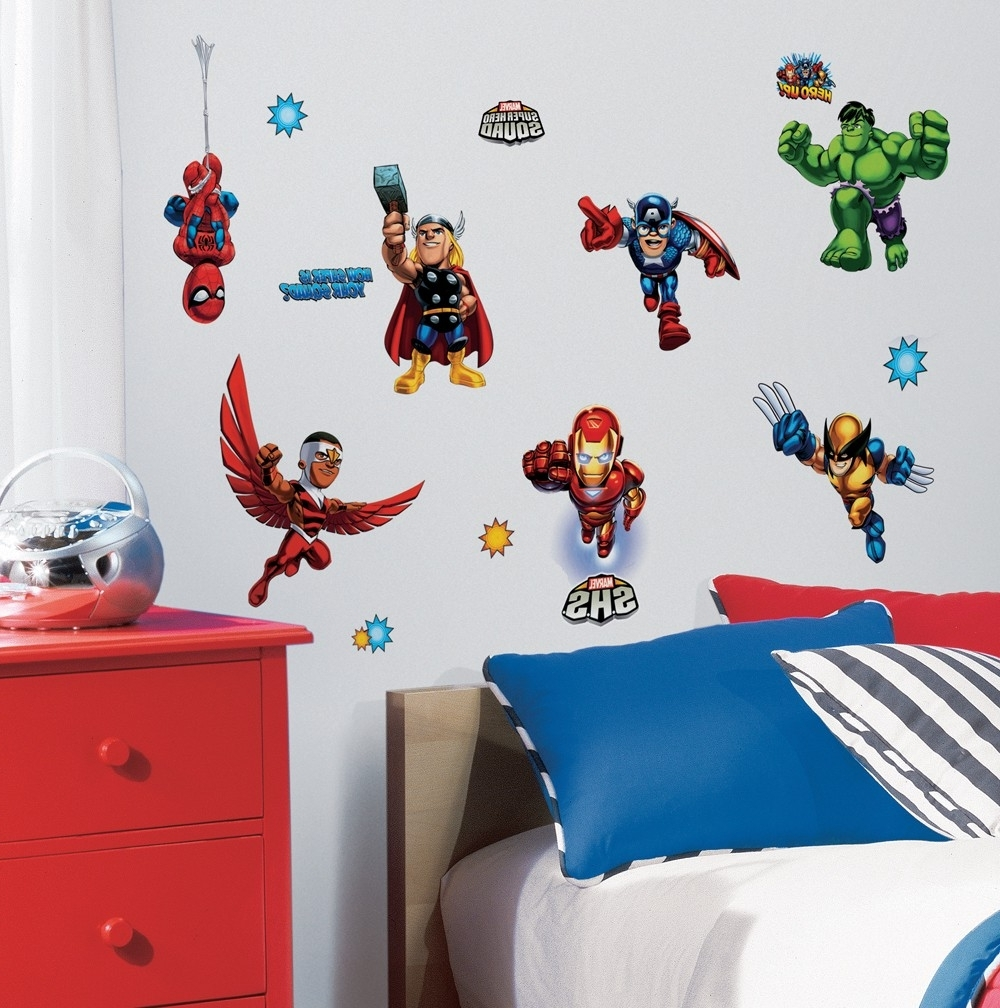 Design Idea And Decorations With Regard To 2017 Superhero Wall Art Stickers (View 4 of 15)