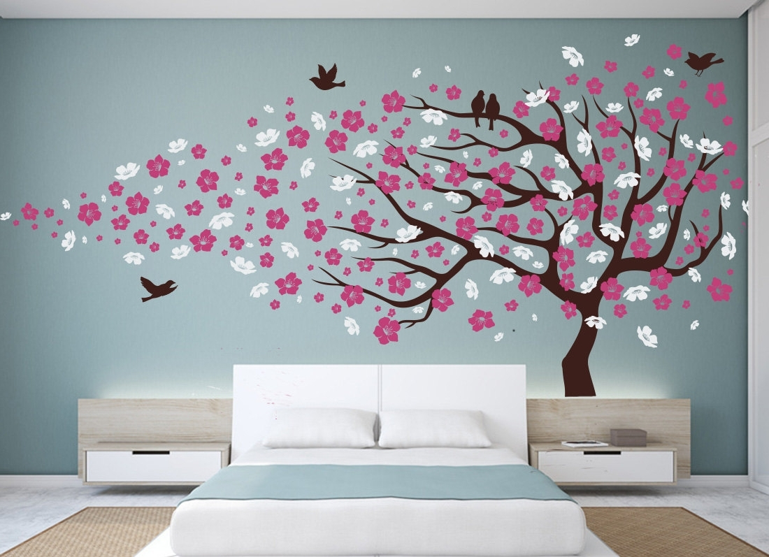 Design Idea And Inside Most Recent Red Cherry Blossom Wall Art (View 4 of 15)