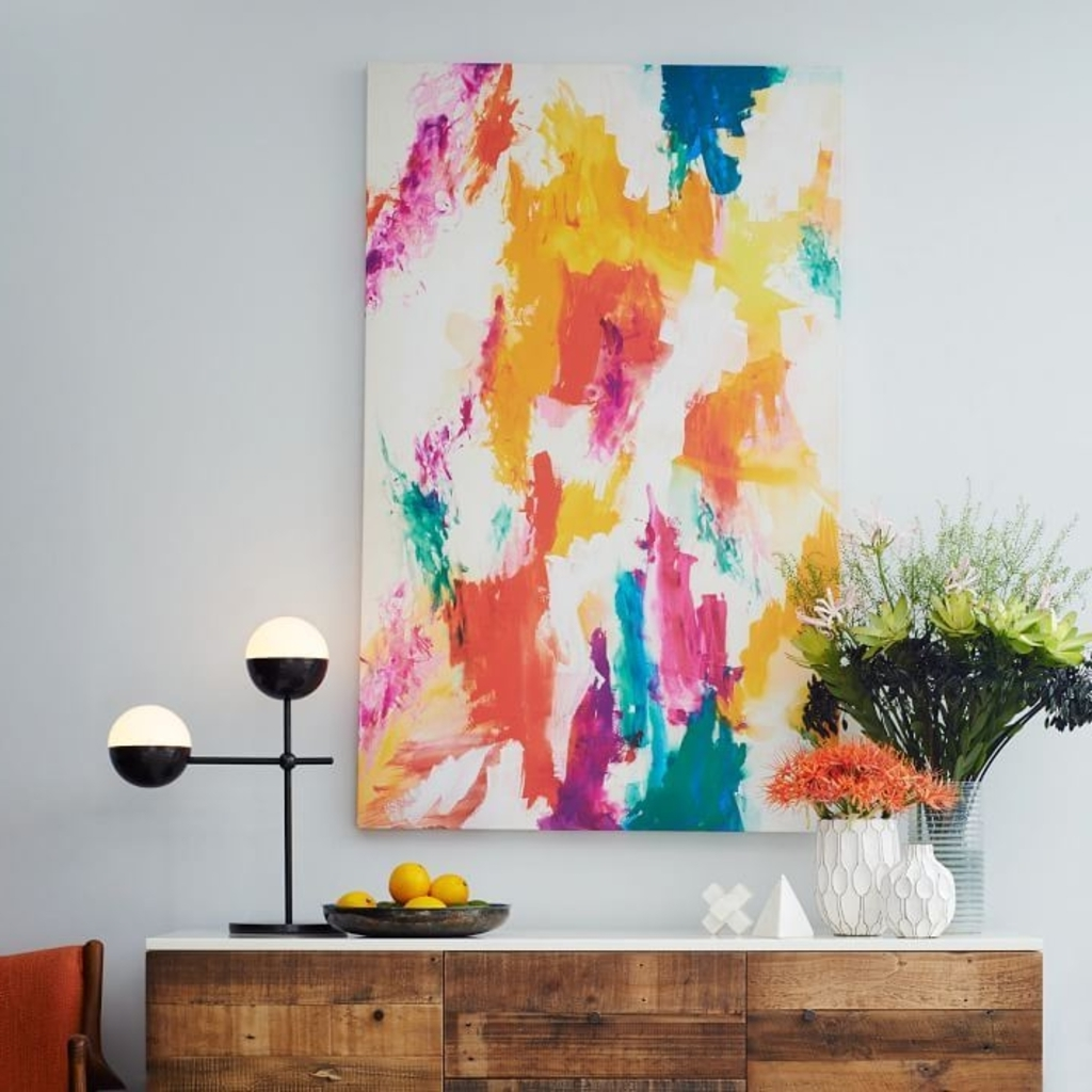 Design Ideas: Abstract Wall Art From West Elm U2013 Color Your World Within  Famous West