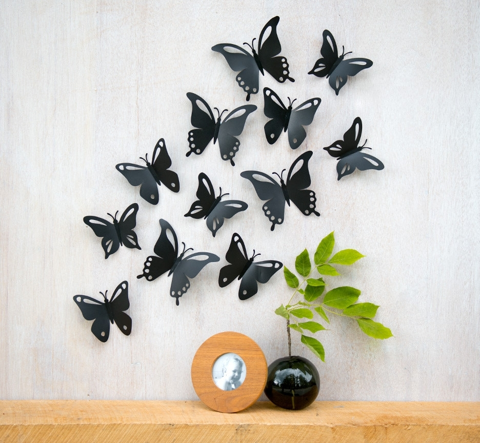 Design Ideas For 3D Butterfly Wall Décor — Unique Hardscape Design With Favorite Diy 3D Wall Art Butterflies (View 6 of 15)