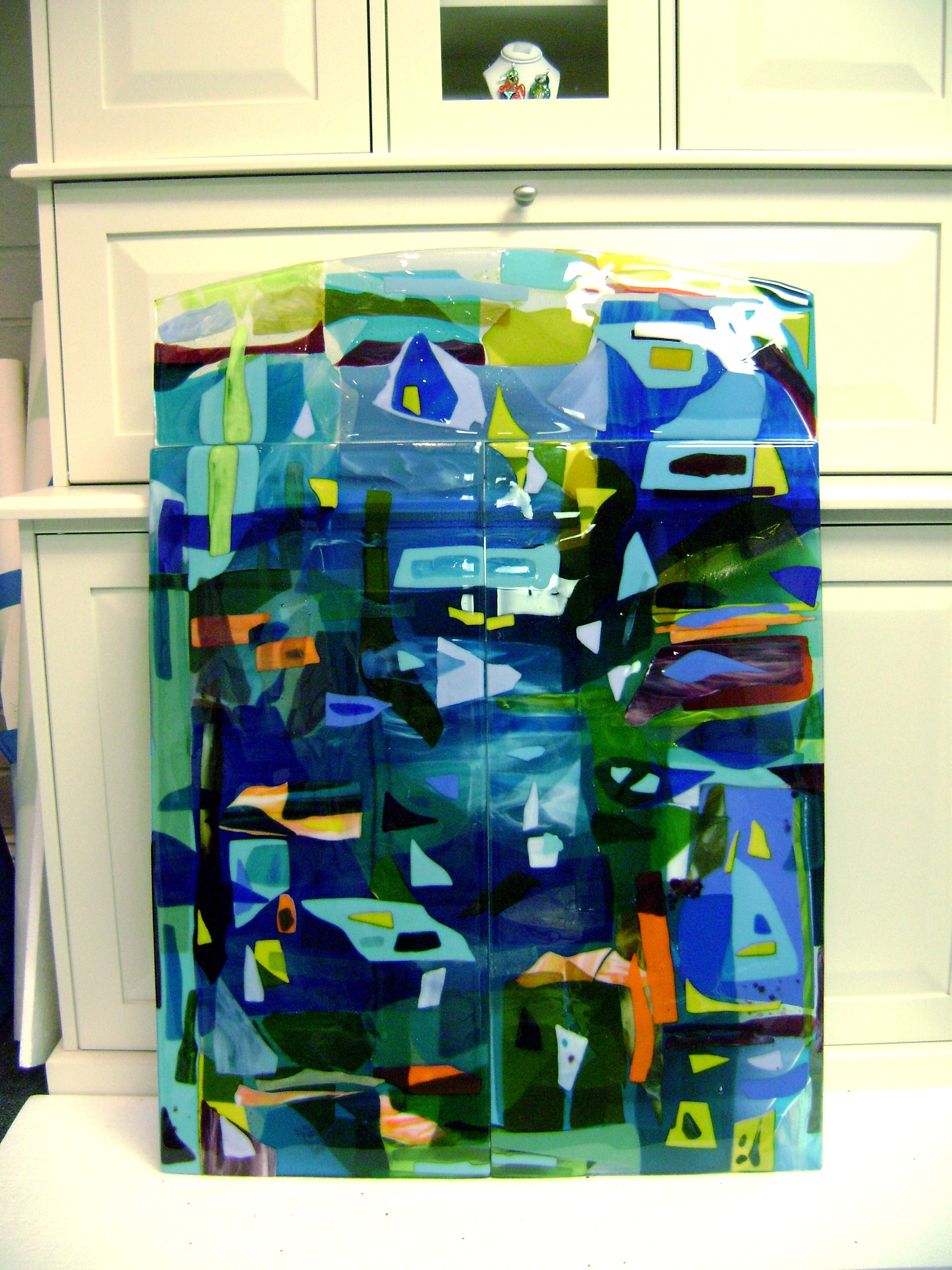 Designer Glass Mosaics Inside Glass Wall Art Panels (View 7 of 15)