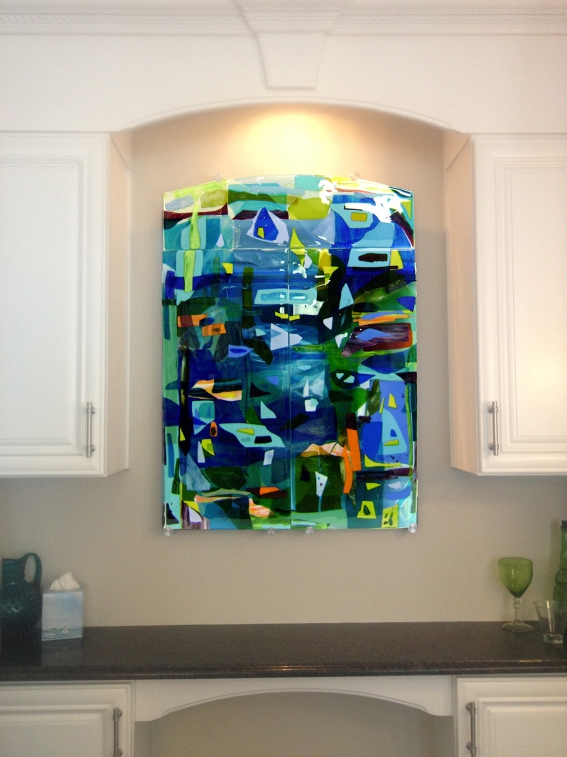 Designer Glass Mosaics Intended For Fused Glass Wall Art Hanging (View 3 of 15)