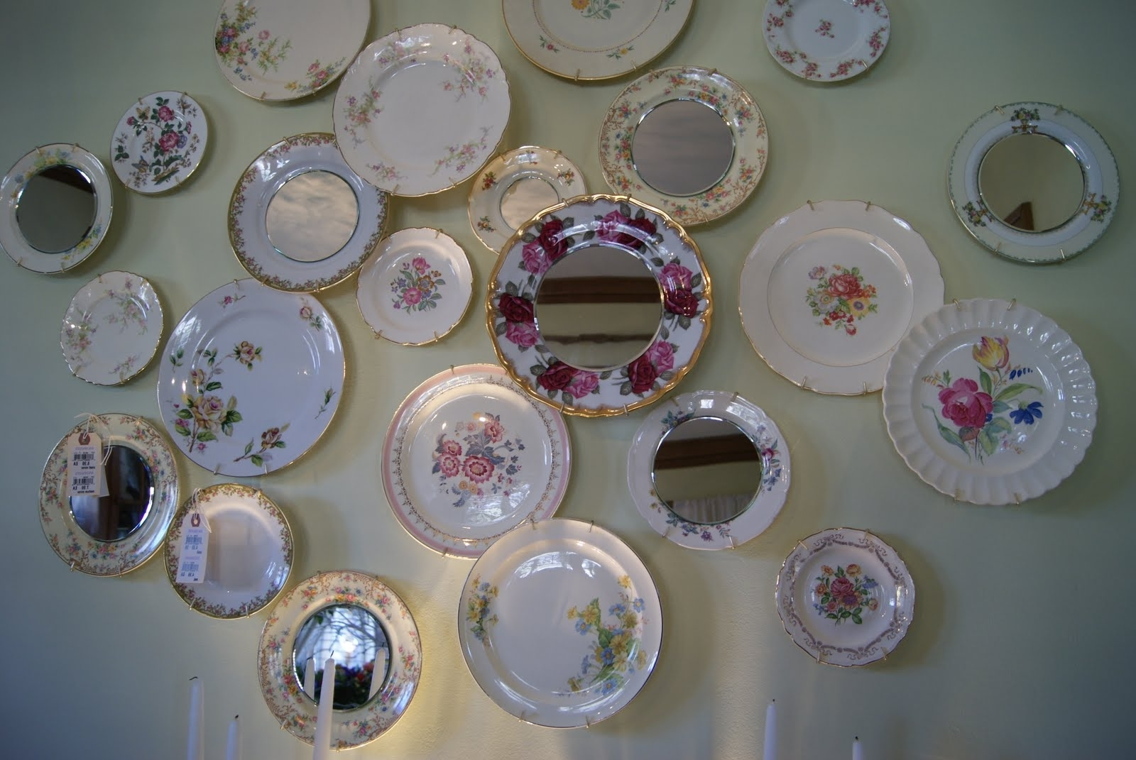 Dining Room Decorative Plates Mirrors Used Wall Collage – Dma With Regard To Trendy Decorative Plates For Wall Art (View 8 of 15)