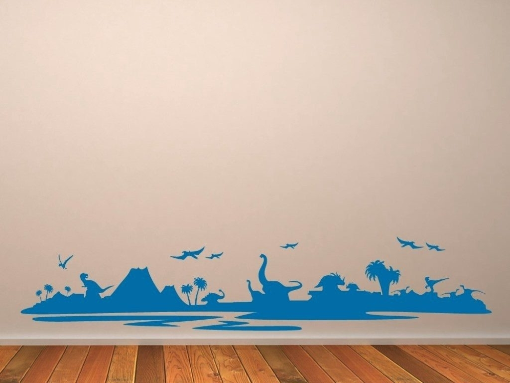 Dinosaur Canvas Wall Art Pertaining To 2018 Wall Arts: Dinosaur Wall Art. Dinosaur Wall Art For Toddlers (Gallery 15 of 15)