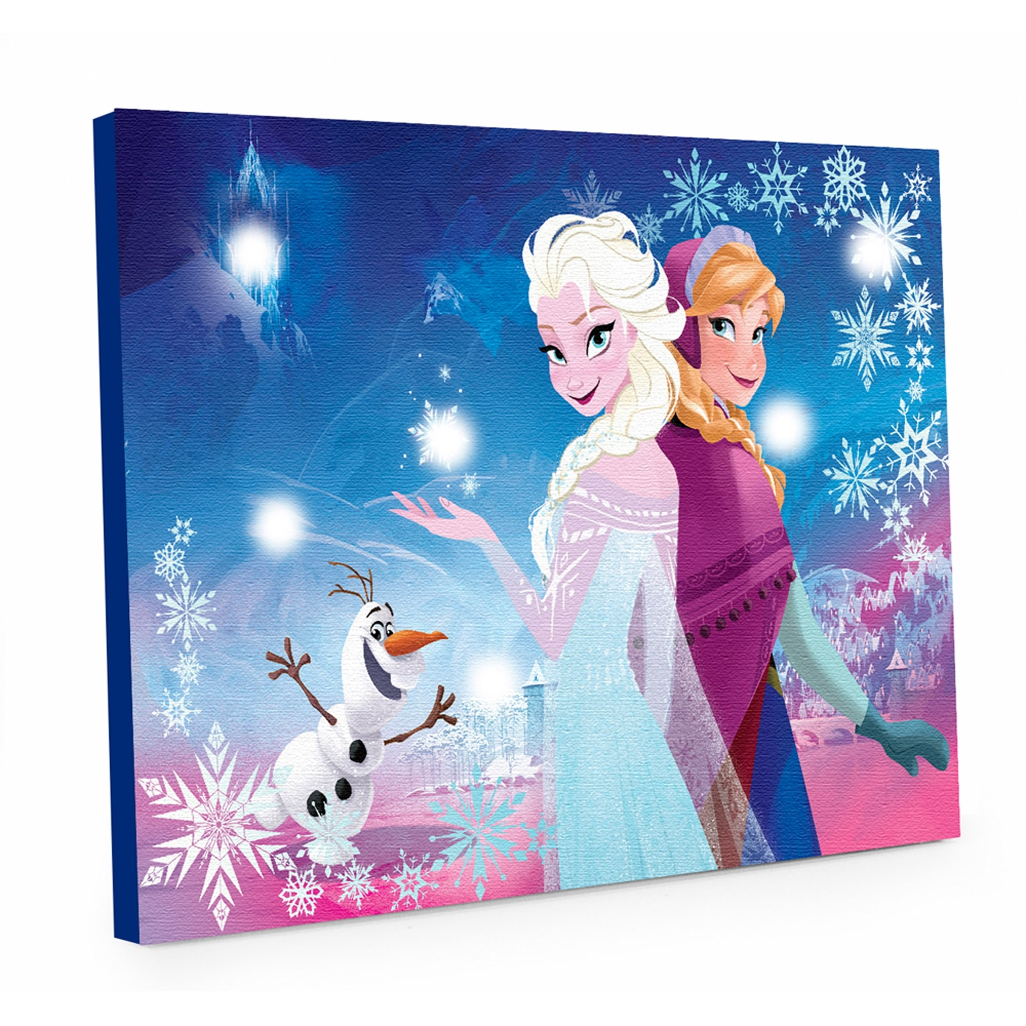 Disney Canvas Wall Art With Most Current Decor: Disney Frozen Light Up Canvas Wall Art With Led Lights For (View 10 of 15)