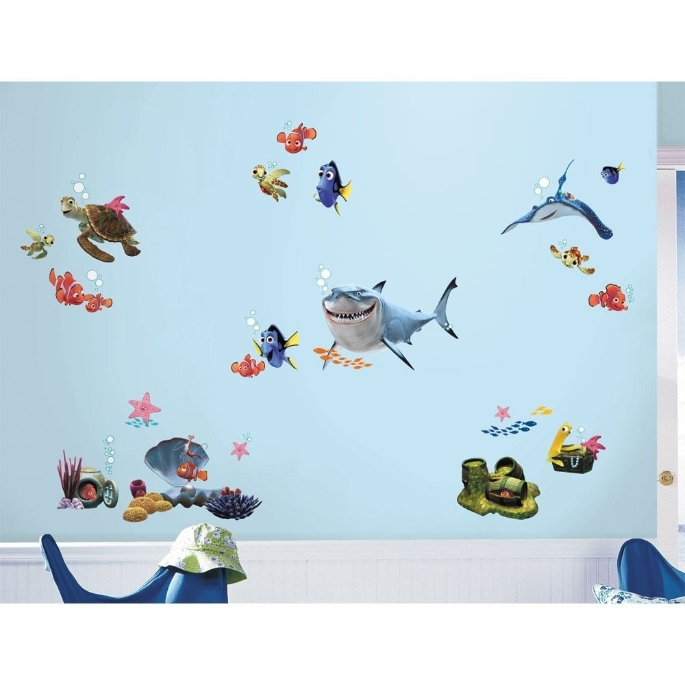 Disney Finding Nemo Wall Decals 44 Kids Bathroom Stickers Fish With Most  Popular Fish Decals For