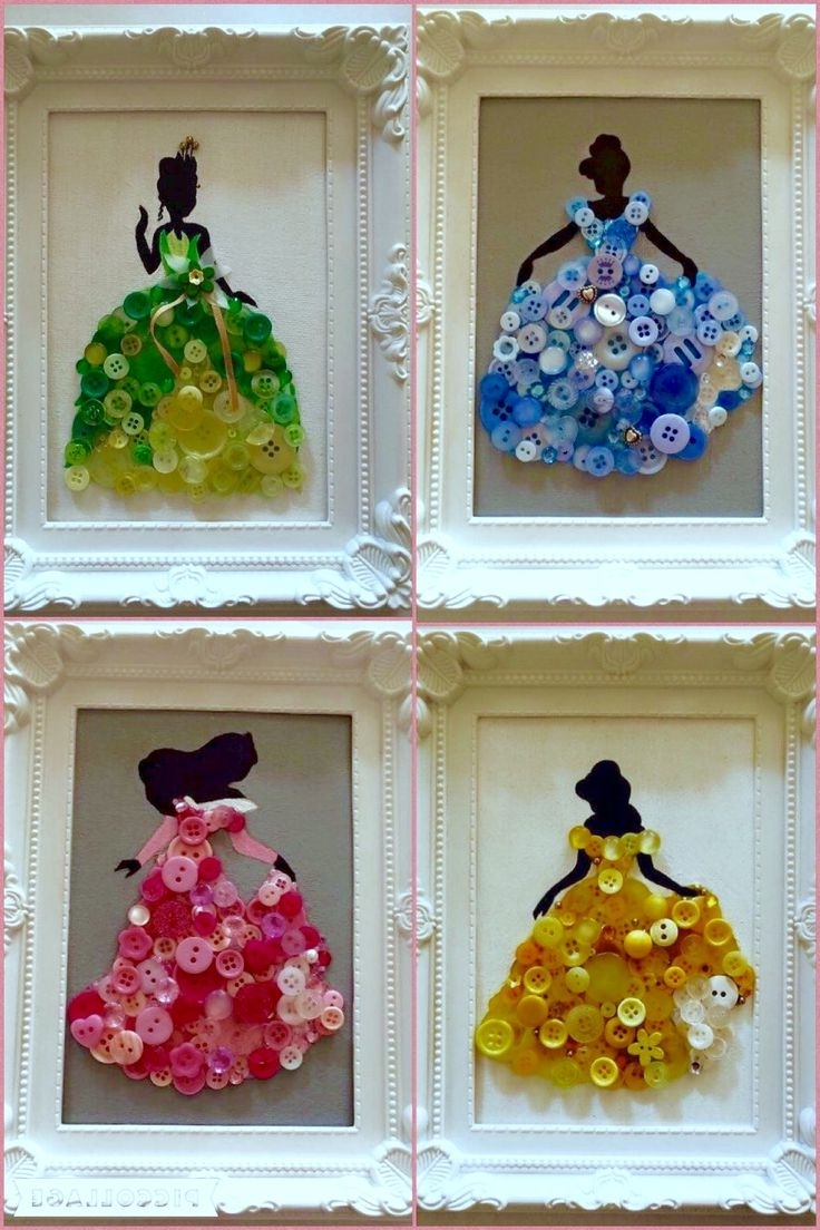 Disney Princess Framed Wall Art Intended For Favorite Best 25+ Button Art Ideas On Pinterest (View 6 of 15)