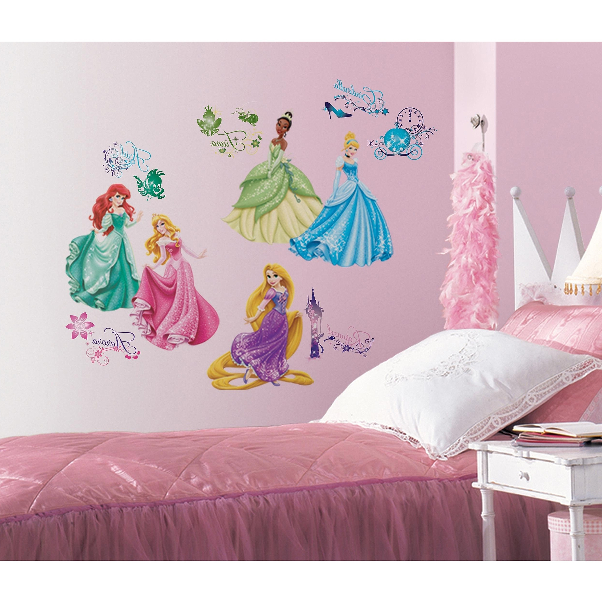 Disney Princess Royal Debut Peel And Stick Wall Decals – Walmart With 2018 Preschool Classroom Wall Decals (View 6 of 15)