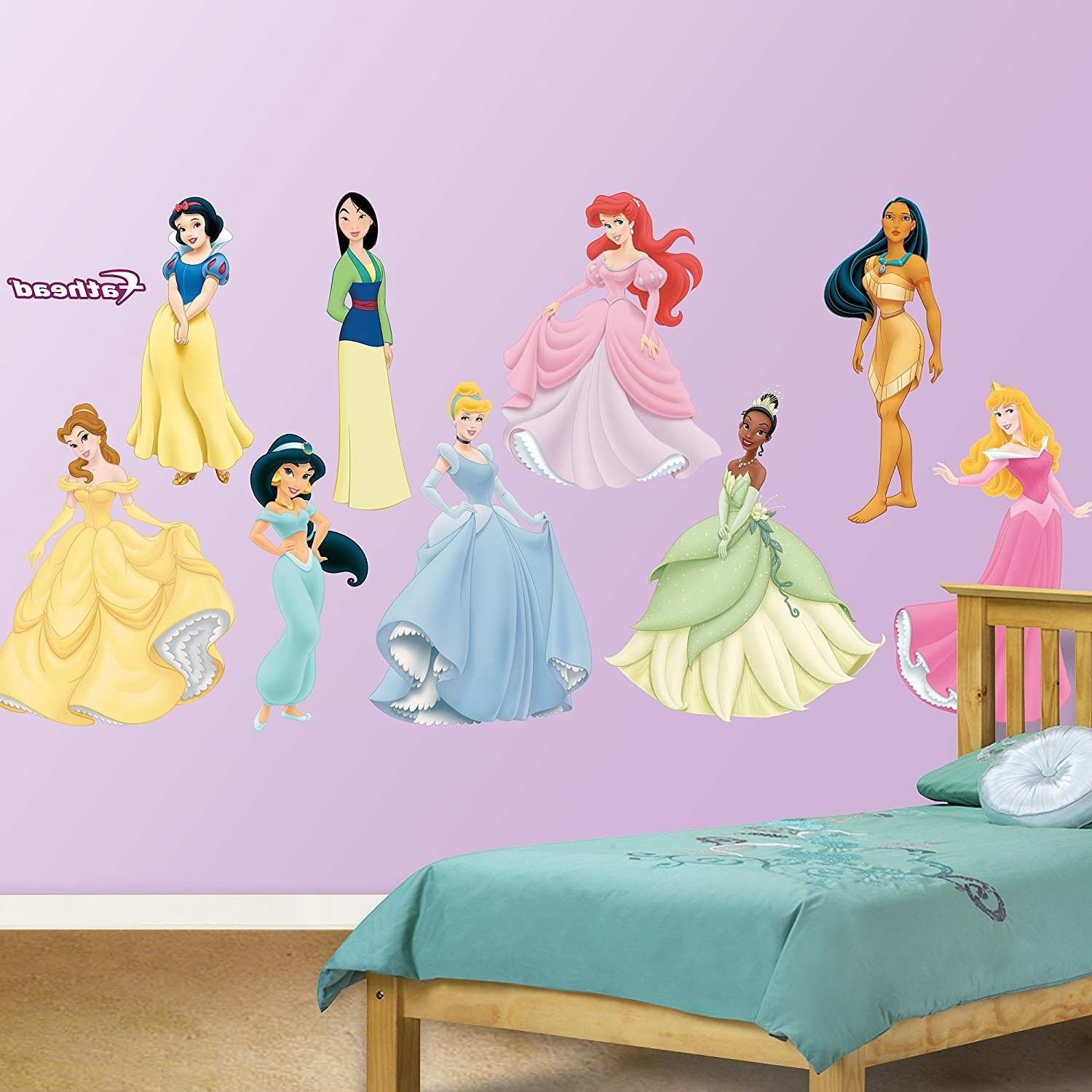 Disney Princess Wall Art With Trendy Amazon: Fathead Disney Princess Collection Graphic Wall Décor (View 6 of 15)