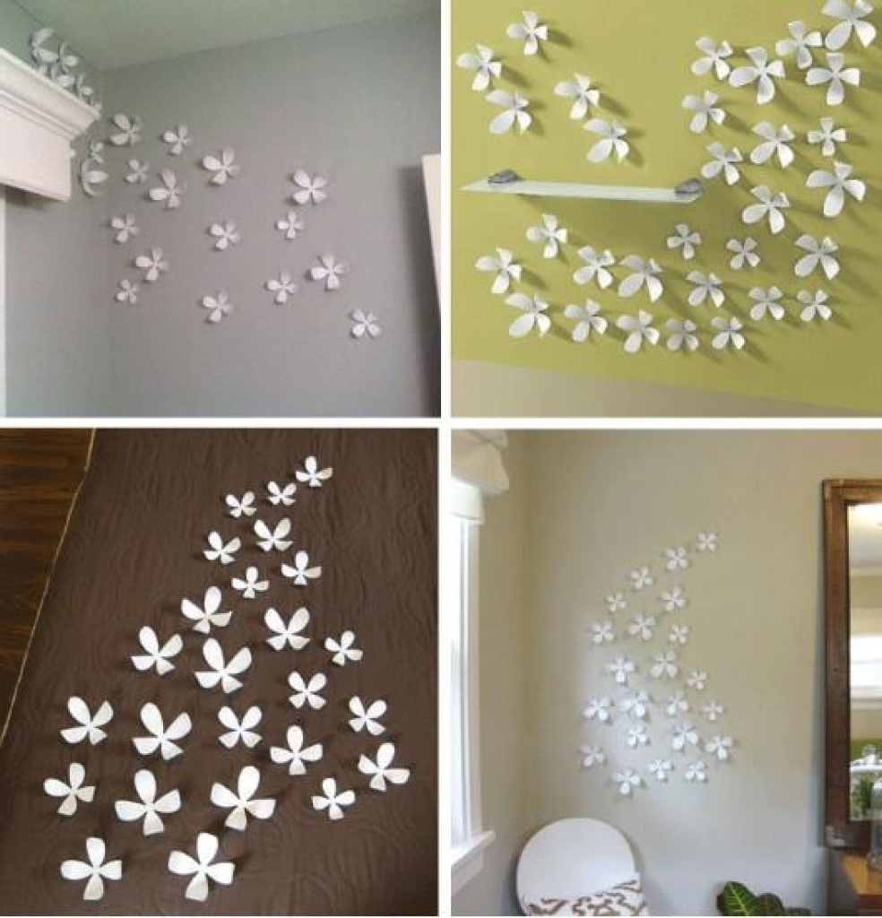 Diy 3D Flower Canvas Wall Art Diy Mothers Day Gift Youtube With Regard To Most Current 3D Wall Art For Bedrooms (View 9 of 15)