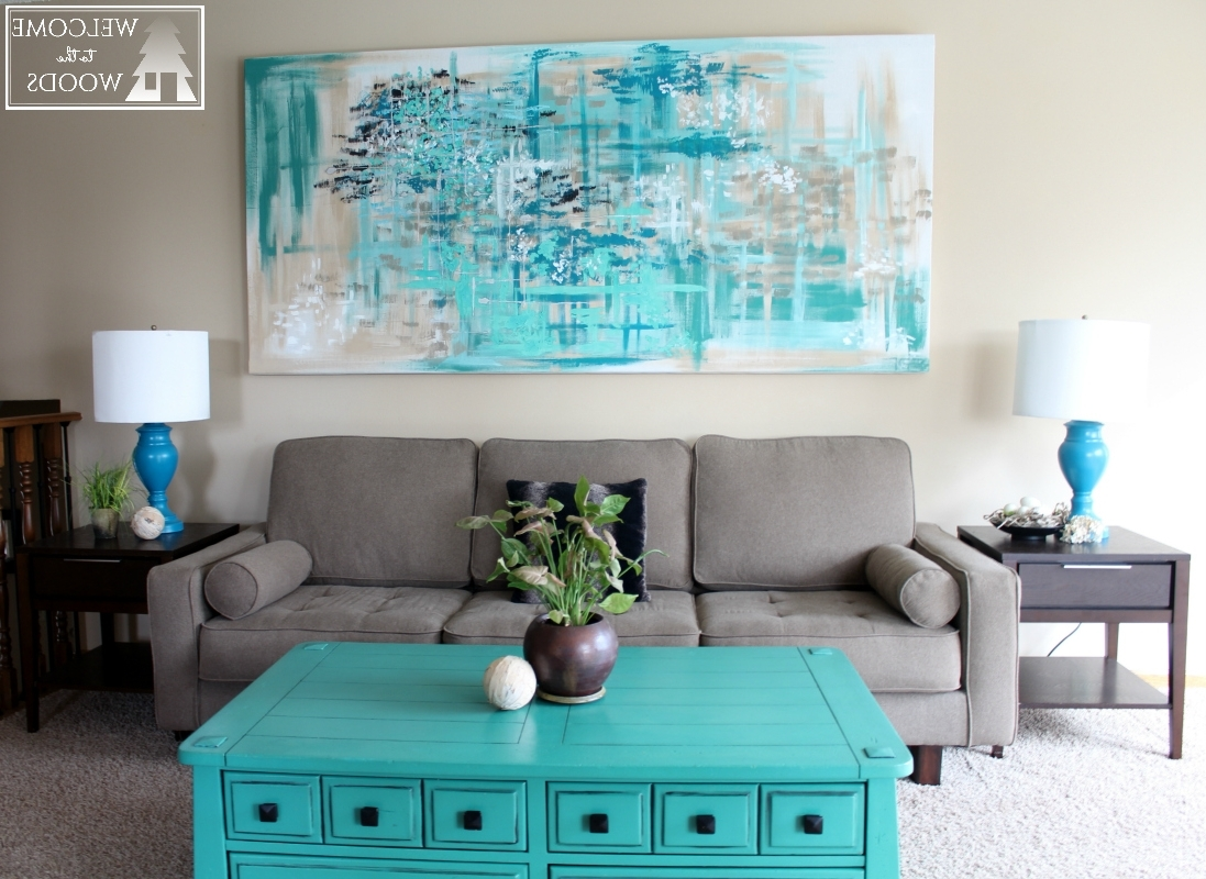 Diy Abstract Canvas Wall Art Throughout Latest Large Canvas Wall Art – Welcome To The Woods (View 4 of 15)