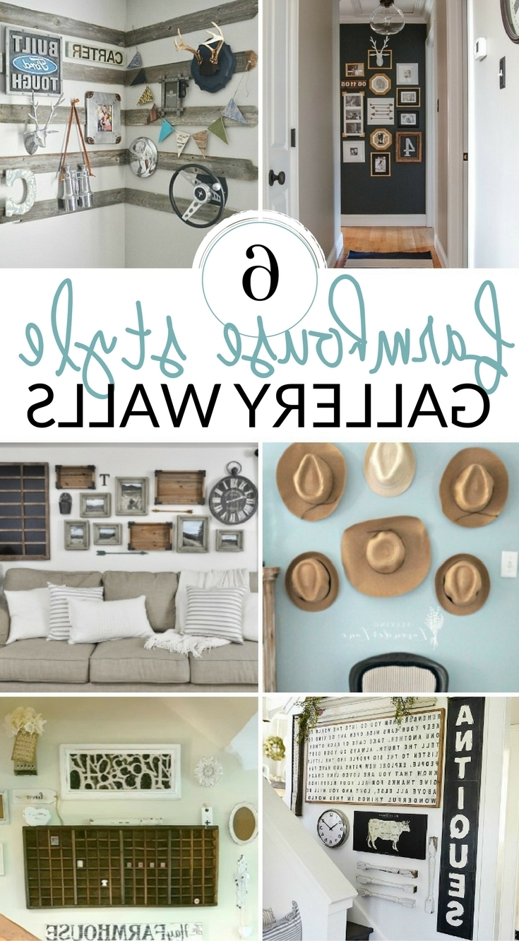 Diy Farmhouse Wall Decor Inspiration – The Crazy Craft Lady With Regard To Newest Farmhouse Wall Art (View 2 of 15)
