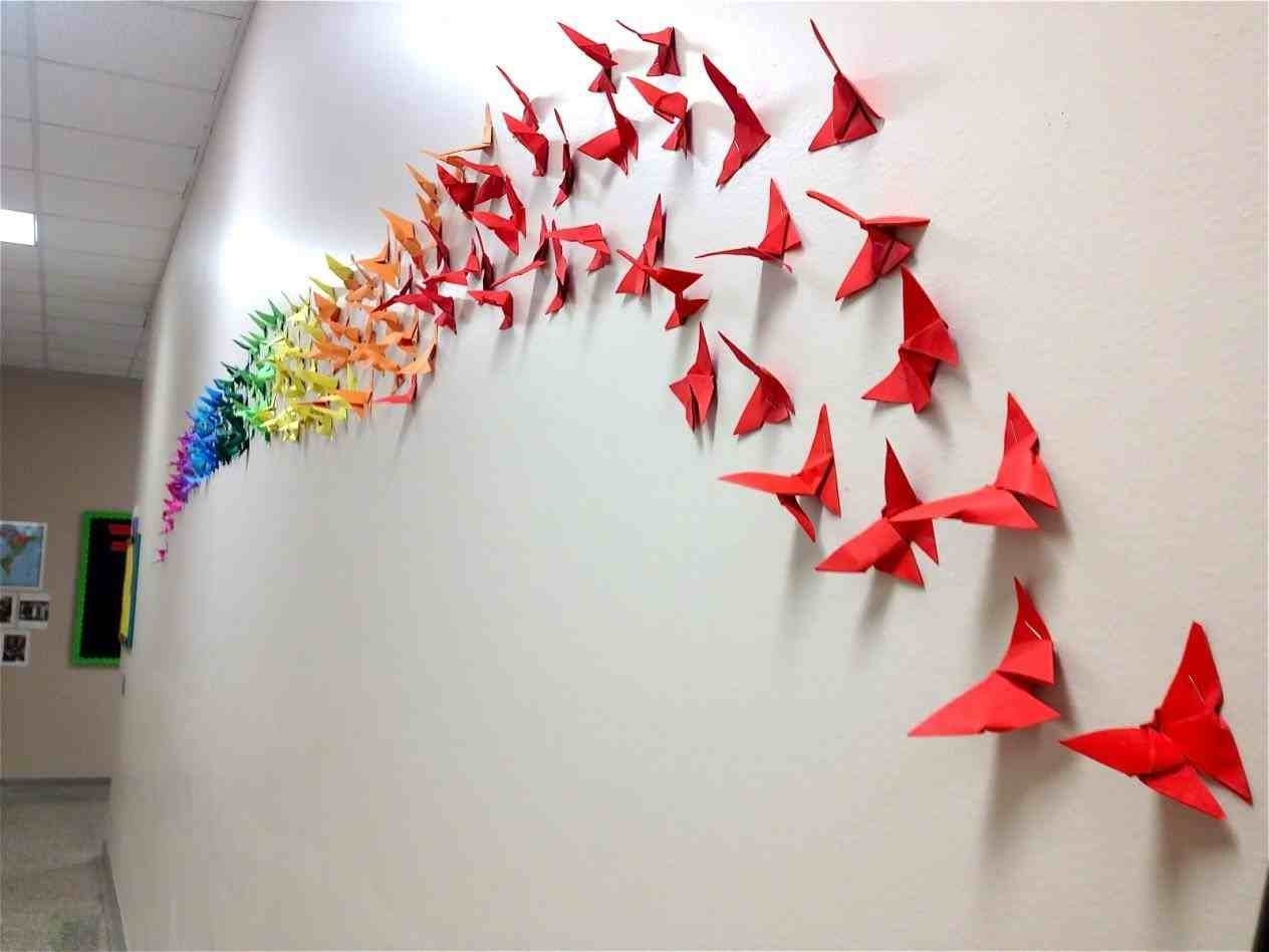 Diy Origami Wall Art In Well Known The Images Collection Of How Wall Decoration With Paper Butterfly (View 4 of 15)
