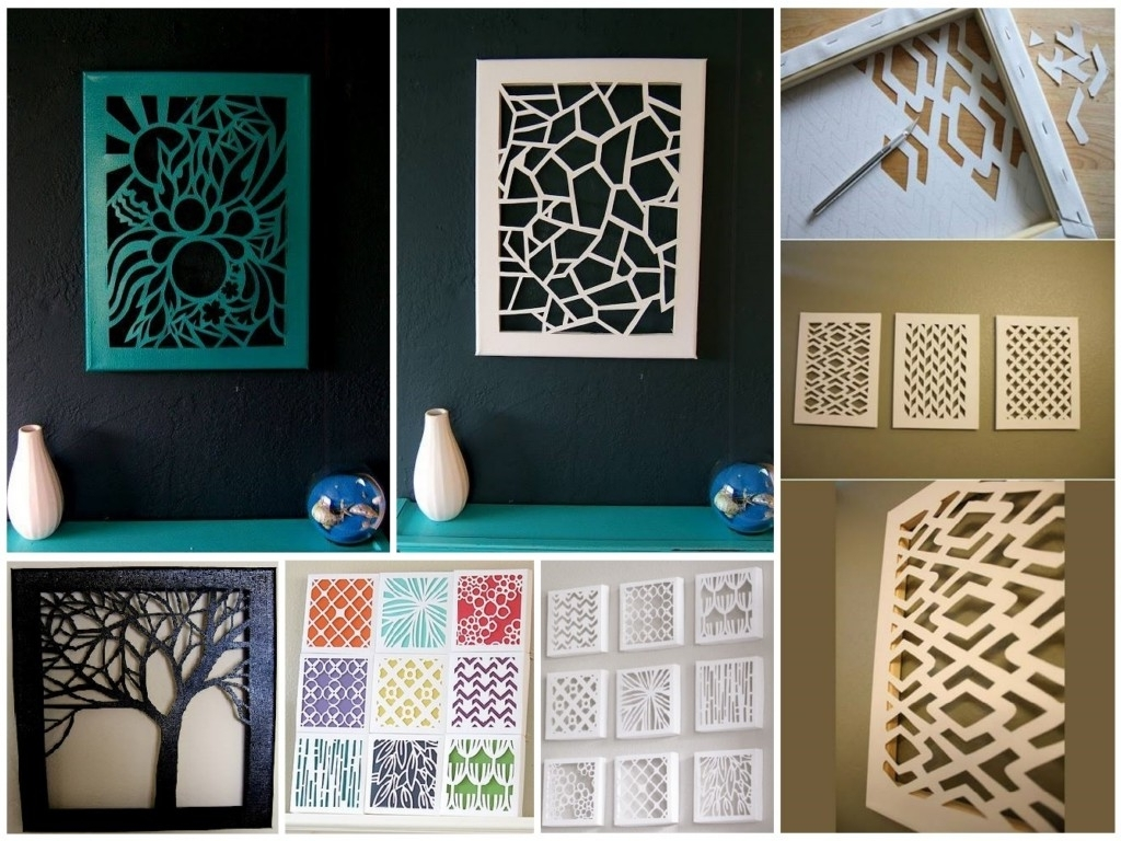 Diy Pinterest Canvas Art Pertaining To Well Known Diy Canvas Cut Out Wall Art (View 10 of 15)