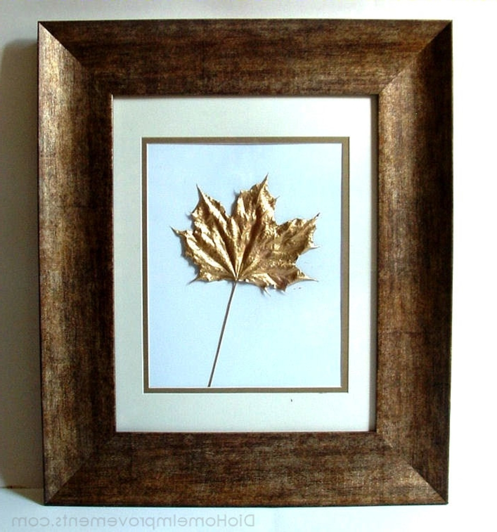 Diy Projects: Pressed Leaves Painted In Gold – 8 Creative Diy Within Fashionable Seasonal Wall Art (View 4 of 15)