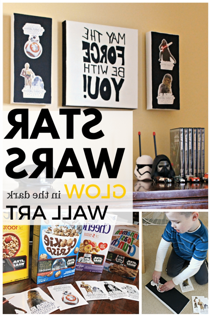Diy Star Wars Wall Art Intended For Latest Star Wars Wall Art – Simple Recipes, Diy Tutorials, & Farmhouse (View 5 of 15)