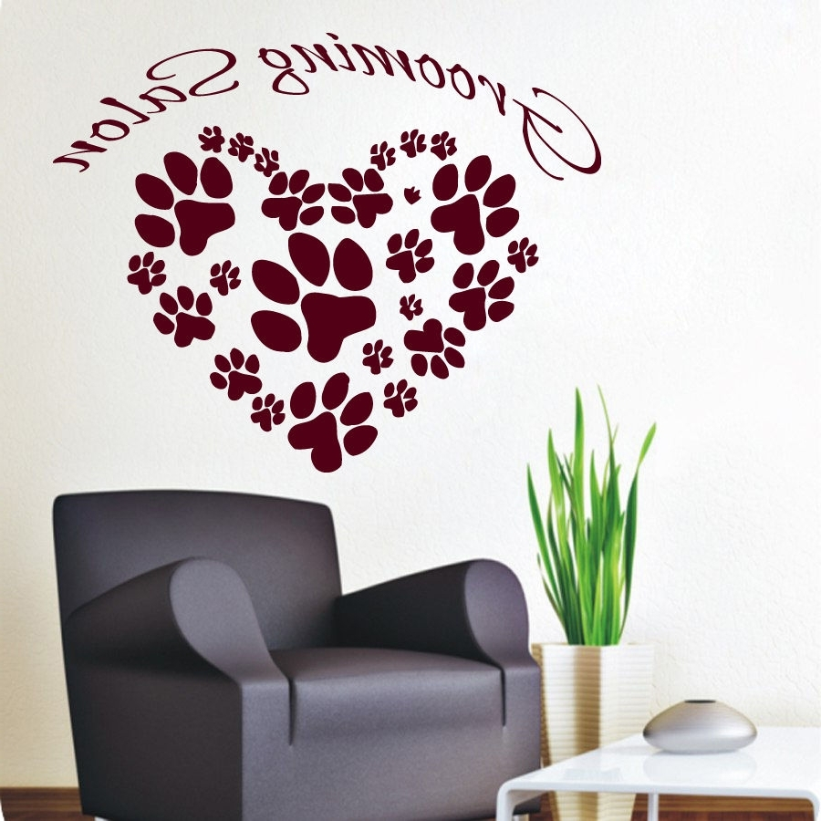 Dog Sayings Wall Art Pertaining To Favorite Wall Decals Vinyl Decal Sticker Pet Shop Art Cat Dog Grooming (View 5 of 15)
