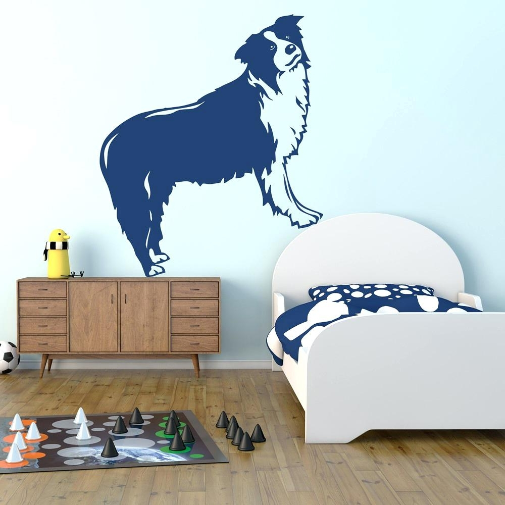 Dog Sayings Wall Art Throughout Fashionable Wall Decals Dogs Amusing Dog Sayings Wall Art In Large Horizontal (View 7 of 15)