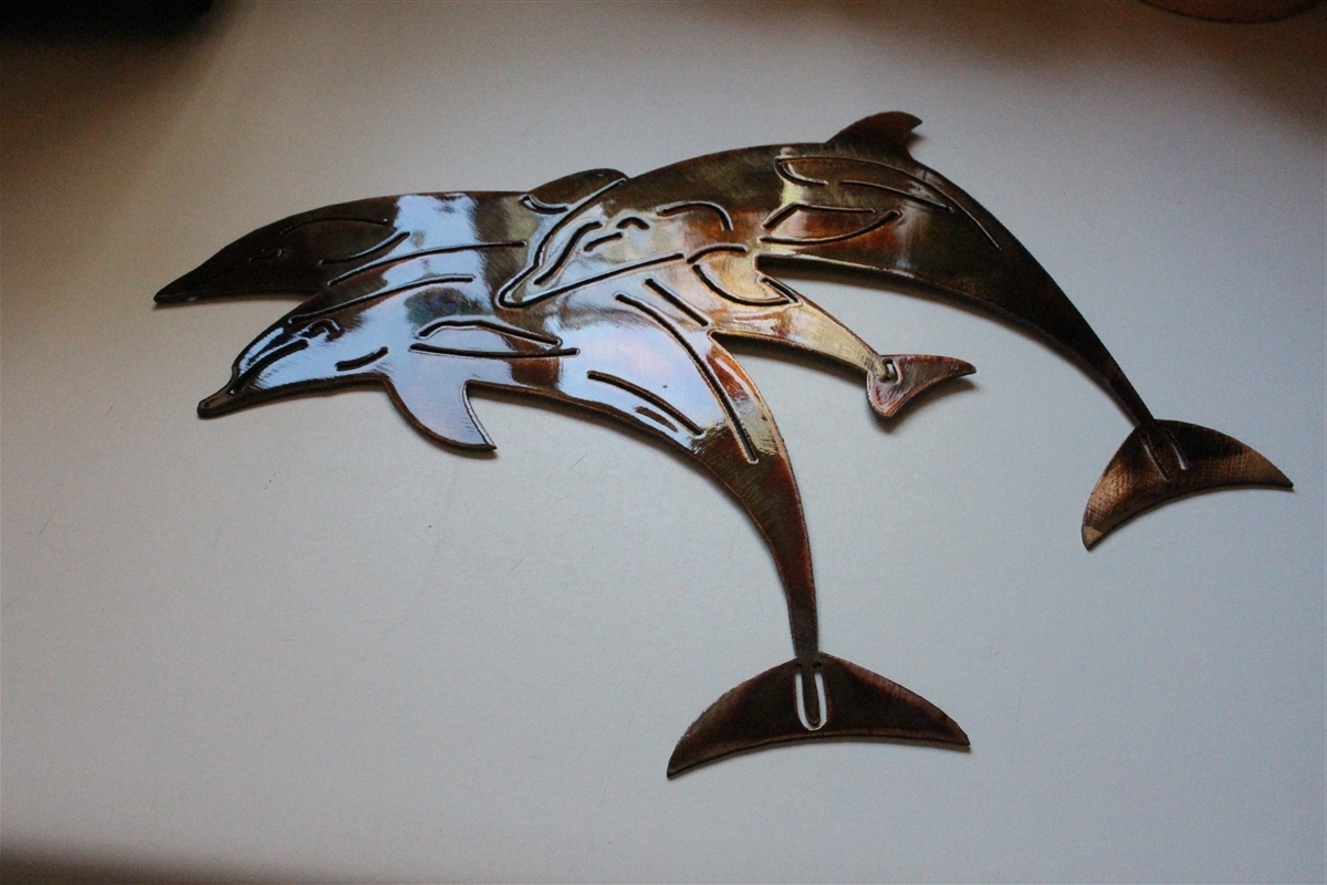 Dolphin Metal Wall Art Regarding Famous Email (View 5 of 15)