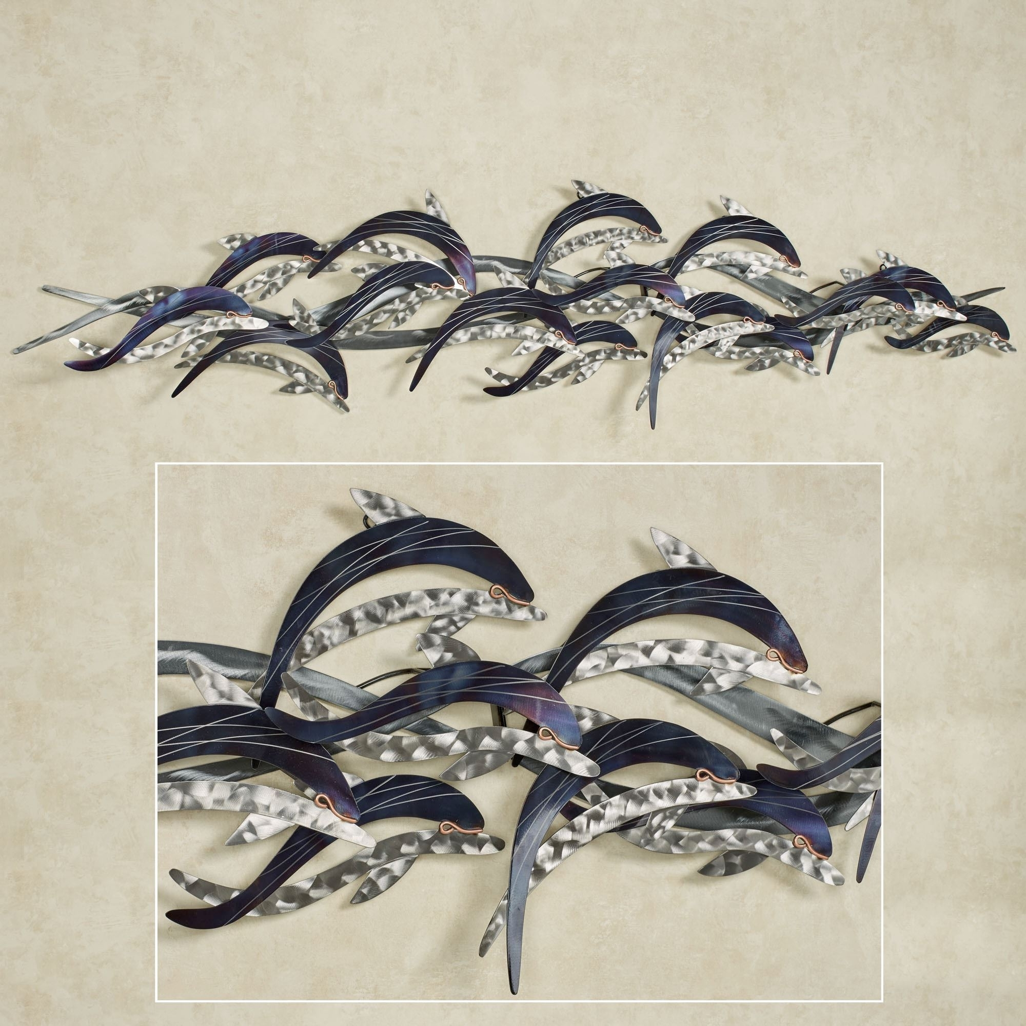 Dolphin Metal Wall Art With Regard To Best And Newest In The Waves Dolphin Metal Wall Sculpture (View 7 of 15)