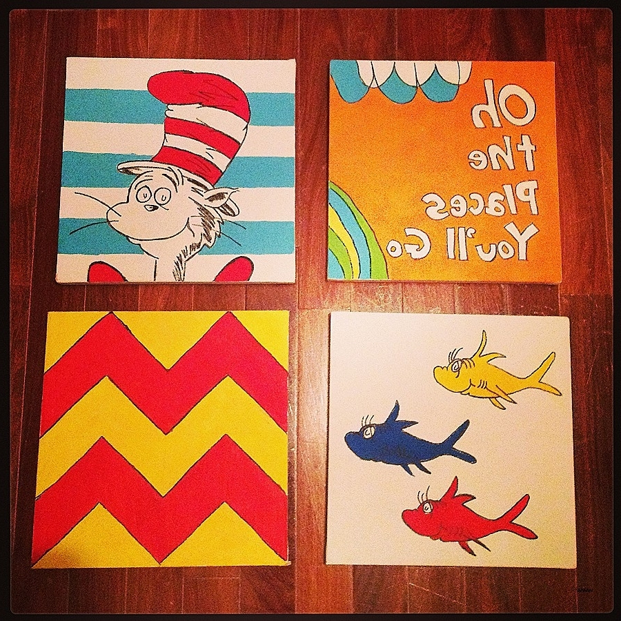 Dr Seuss Canvas Wall Art In 2018 Wall Art Best Of Dr Seuss Canvas Wall Art High Resolution (View 3 of 15)