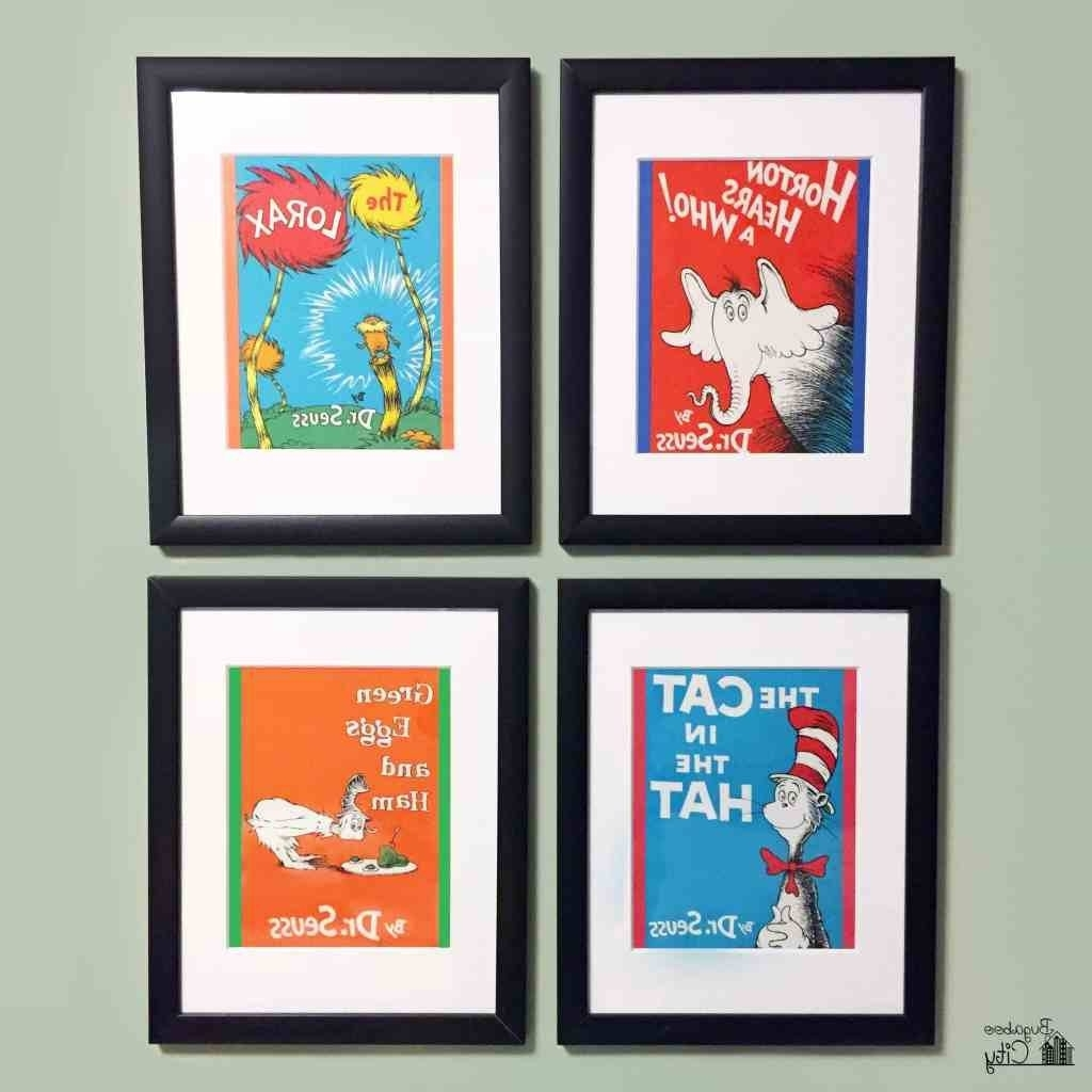 Dr Seuss Canvas Wall Art Intended For Most Popular Stylist Design Dr Seuss Wall Art Together With Diy Suess (View 5 of 15)