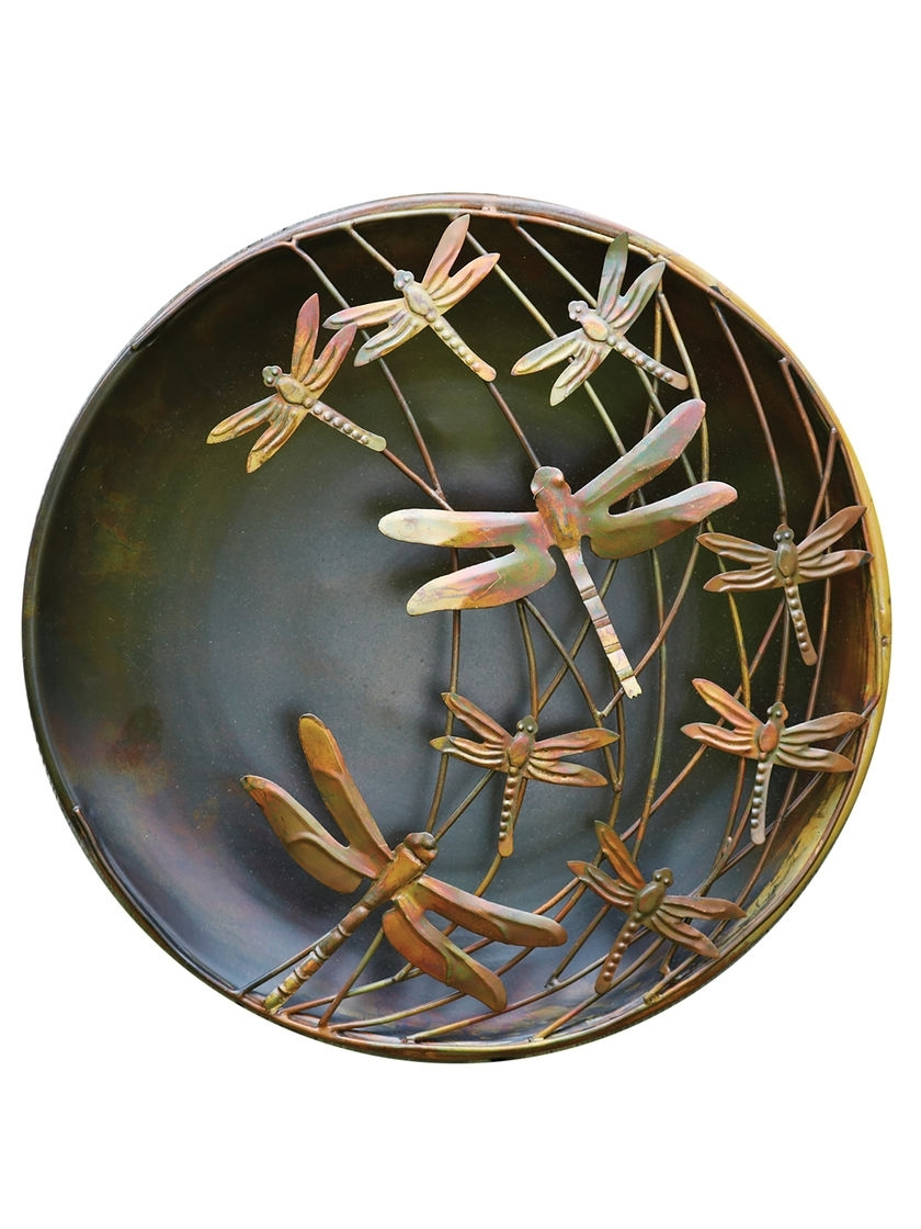 Dragonfly 3D Wall Art Inside Favorite Wall Art Designs: Dragonfly Wall Art Flame Finished Dragonfly (View 4 of 15)