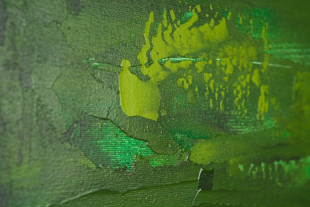 """Dreamqiqigallery 36""""x24"""" Original Modern Abstract Wall With Regard To 2018 Green Abstract Wall Art (View 3 of 15)"""