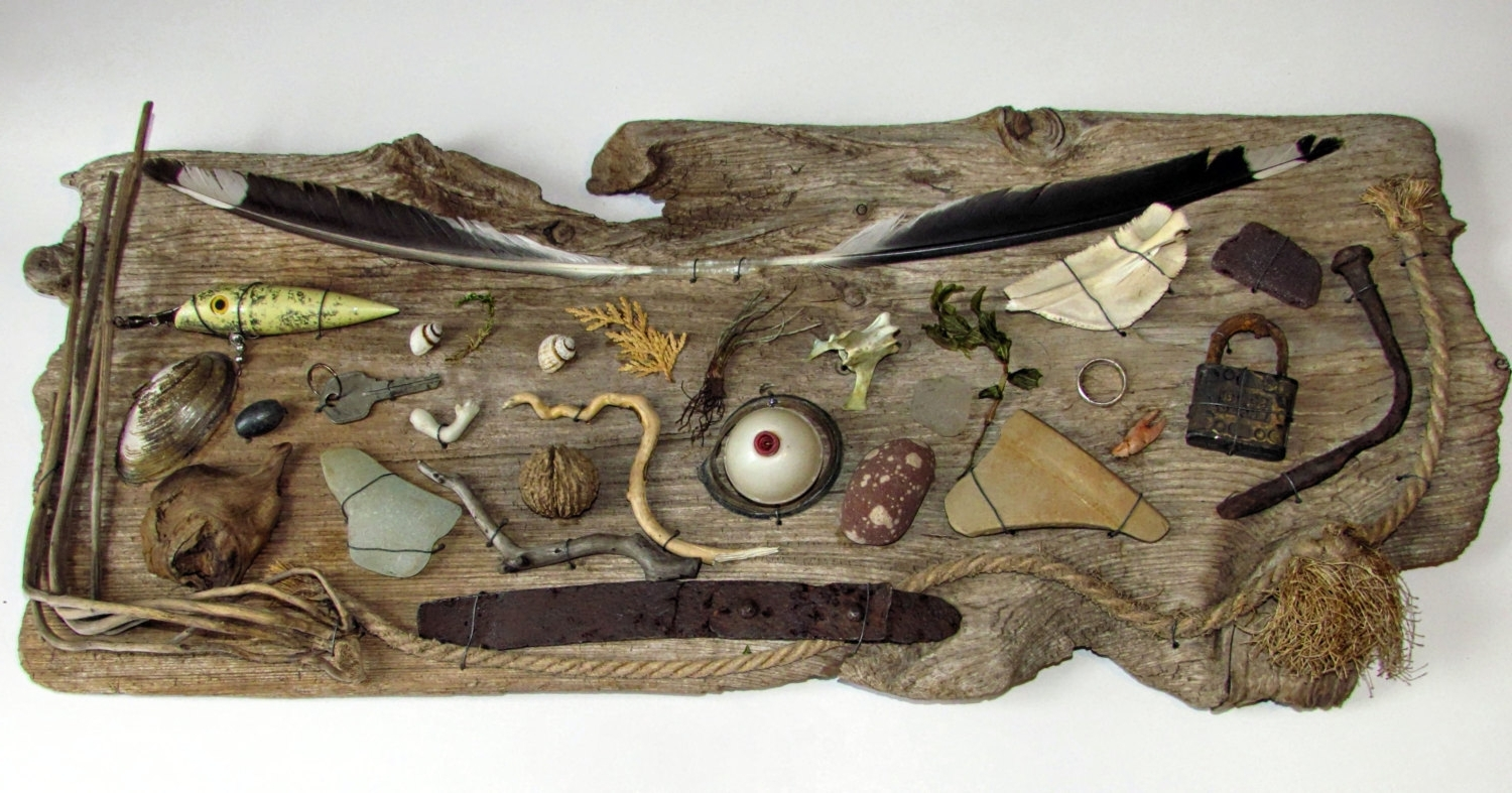 Driftwood Beachcombing Finds Driftwood Wall Art Nautical Inside For Popular Large Driftwood Wall Art (Gallery 9 of 15)