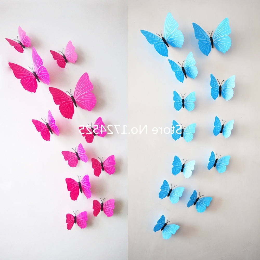 ▻ Decor : 38 Amusing 3D Design Pink Butterfly Paper Wall Art In 2018 Butterflies 3D Wall Art (View 1 of 15)