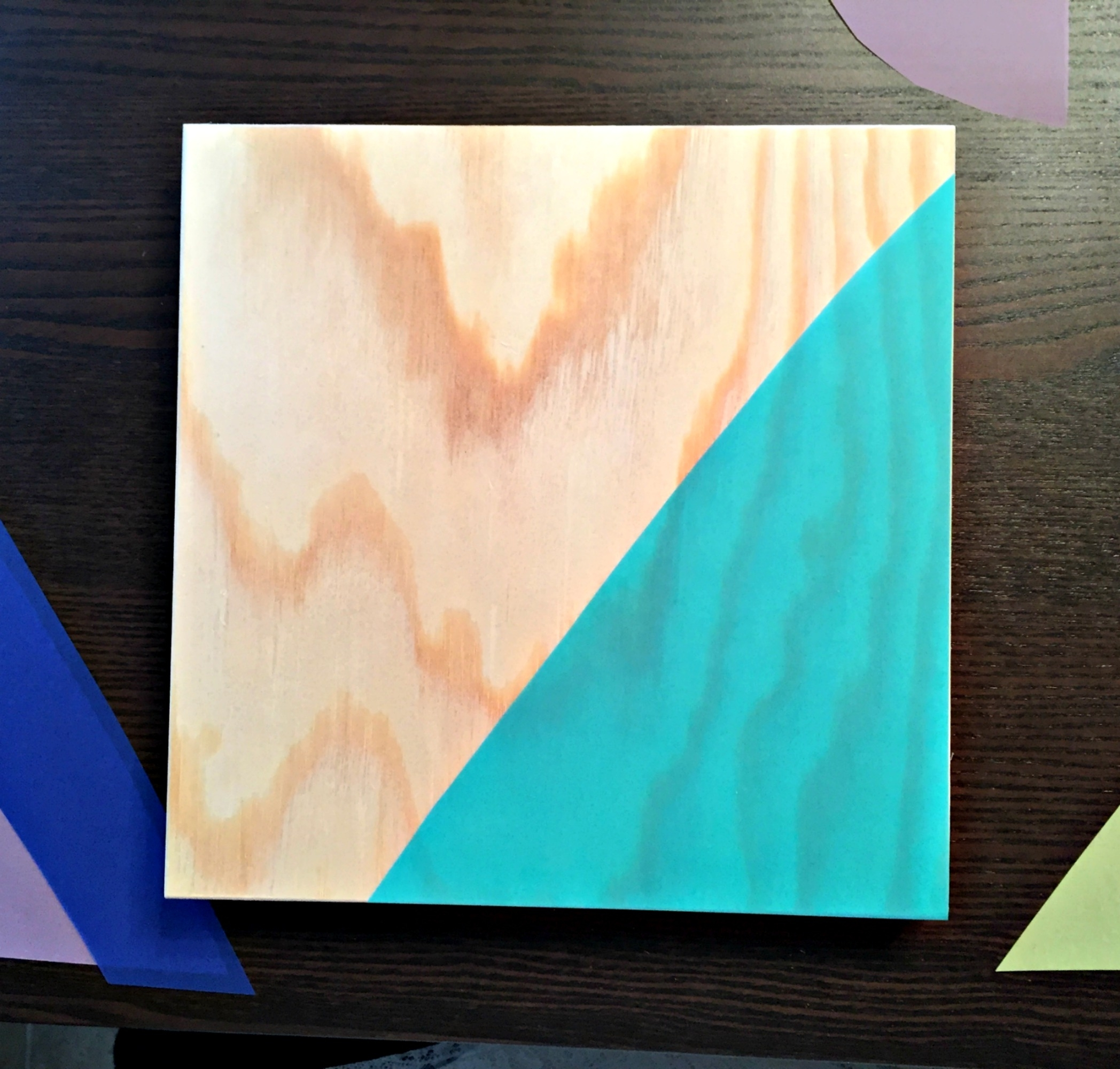 Easy Wall Art: Geometric Wooden Canvas Project – Darice With Regard To Most Up To Date Teal And Green Wall Art (View 4 of 15)