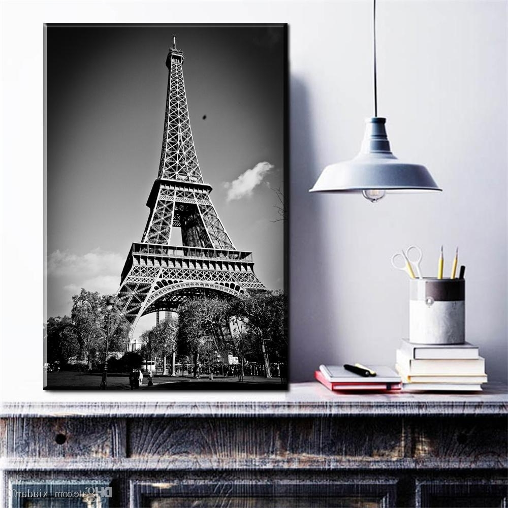 Eiffel Tower Wall Art For Popular 2018 Zz1919 Black & White Photography View Under Eiffel Tower Art (Gallery 15 of 15)