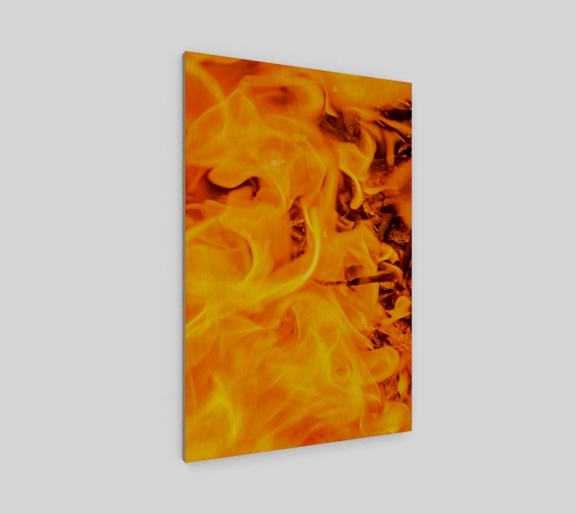 Elements Wall Art Pertaining To Most Recently Released Five Elements Set – Fire Wall Art Poster 4, Wood Print (Gallery 7 of 15)