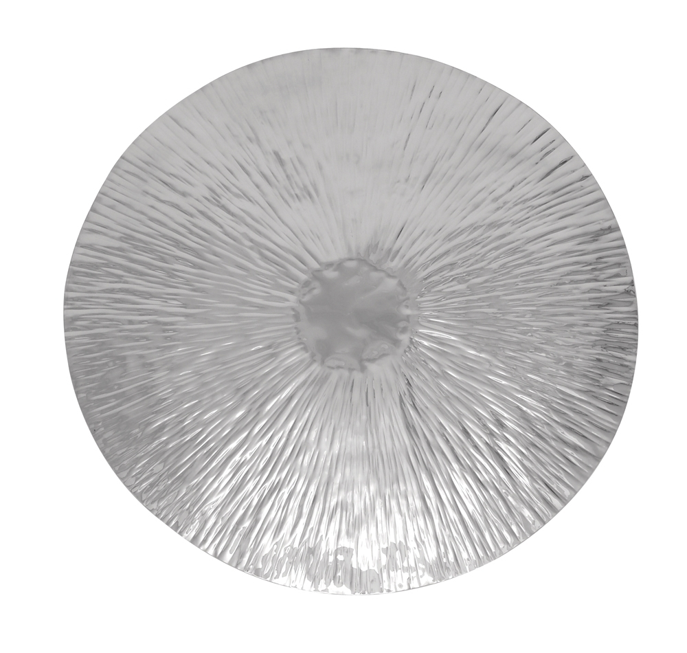 Emanating Disk Modern Metal Art With Regard To Famous Hammered Metal Wall Art (Gallery 1 of 15)