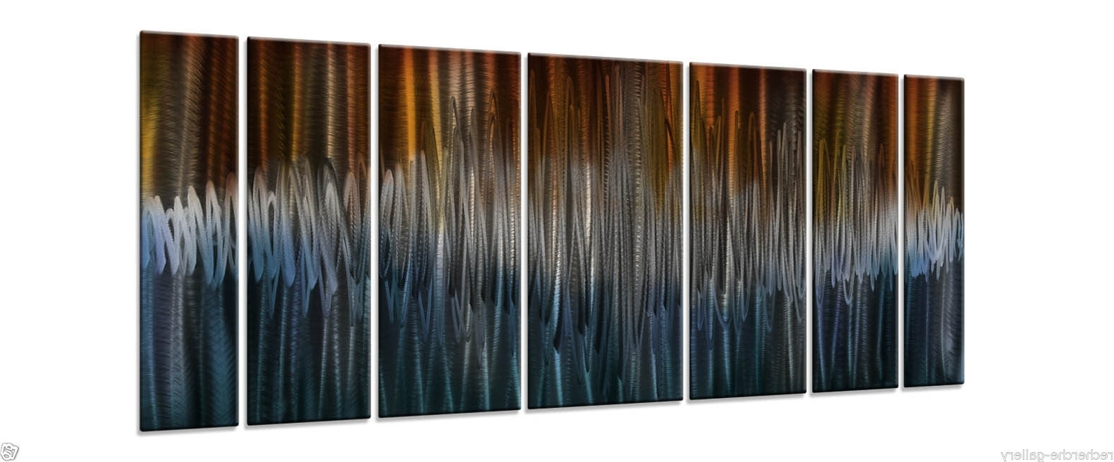 Energize Metal Artash Carl Modern Wall Sculpture Contemporary With Most Recent Ash Carl Metal Art (Gallery 13 of 15)