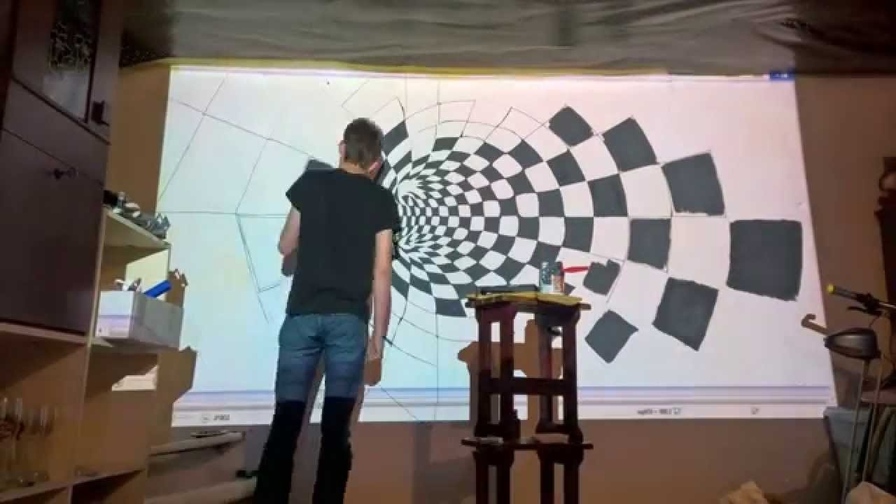 Epson 3D Wall Painting Timelapse – Youtube Inside Well Known Cubes 3D Wall Art (View 6 of 15)