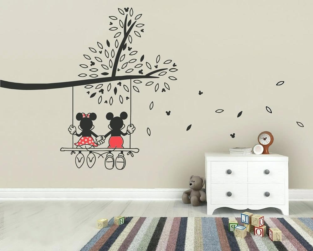 Etsy Childrens Wall Art Intended For Most Recently Released Etsy Wall Decals Nursery Cherry Blossom Tree Wall Decals Nursery (Gallery 14 of 15)