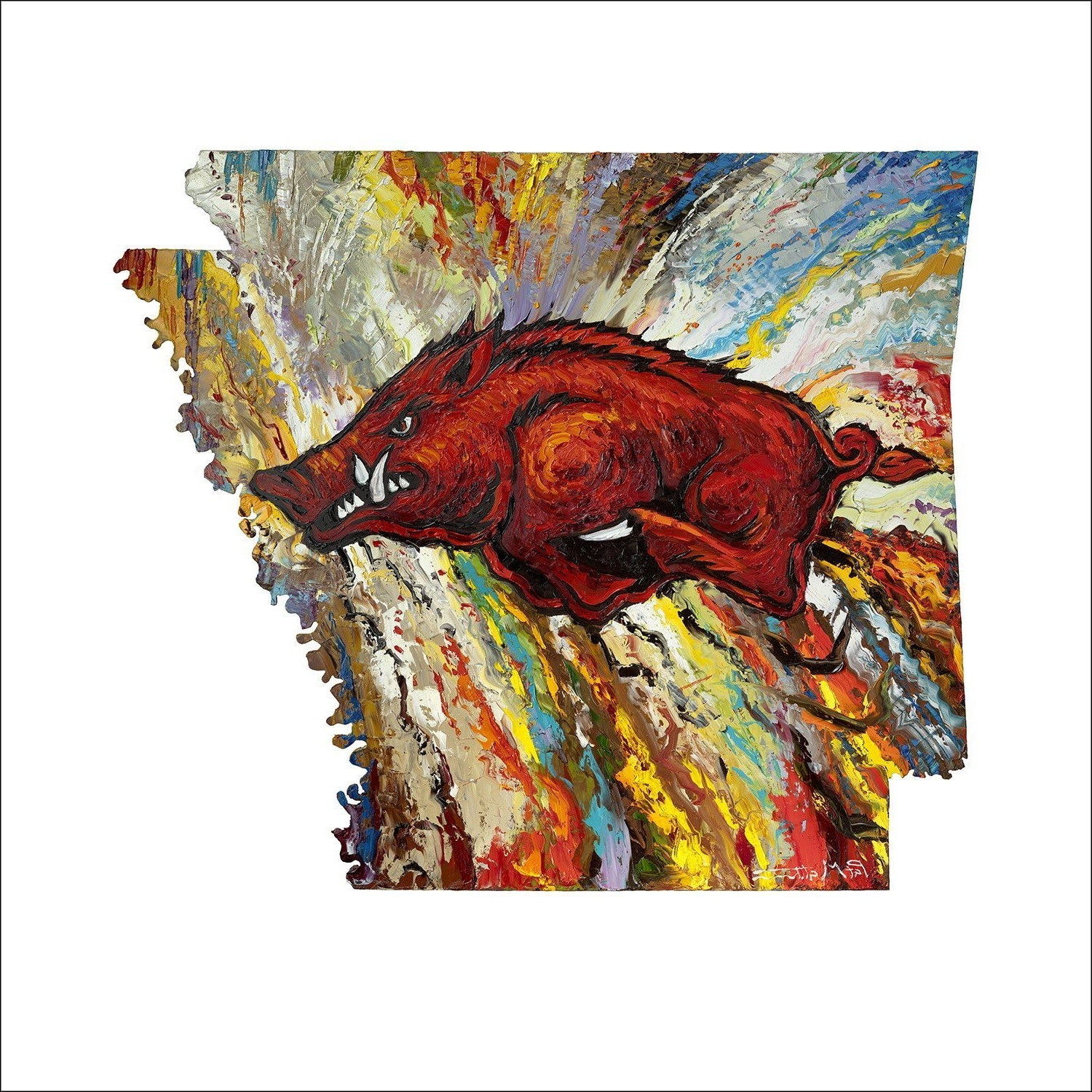arkansas wood charmedsouth decor hanger front razorback by pin door