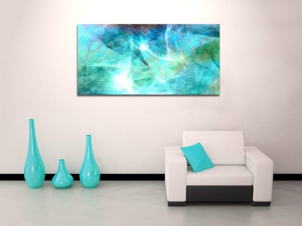 Excellent Design Ideas Horizontal Wall Art With Large Takuice Com With 2018 Large Teal Wall Art (View 4 of 15)