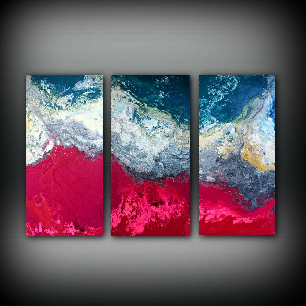 Extra Large Canvas Abstract Wall Art Throughout Best And Newest Magenta Painting 48 X 72 Acrylic Painting Canvas Art Abstract (Gallery 15 of 15)