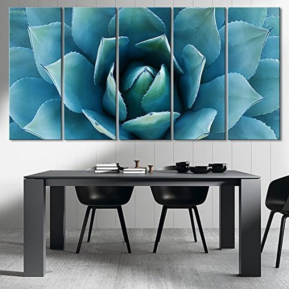 Extra Large Wall Art Prints Throughout Well Known Amazon: Ezon Ch Large Wall Art Blue Agave Canvas Prints Agave (View 12 of 15)
