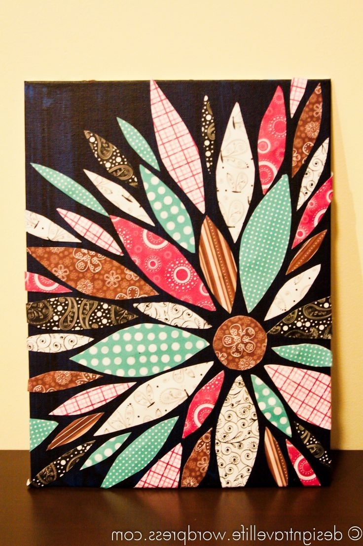 Fabric Canvas Wall Art With Famous Best 25+ Fabric Wall Art Ideas On Pinterest (View 9 of 15)
