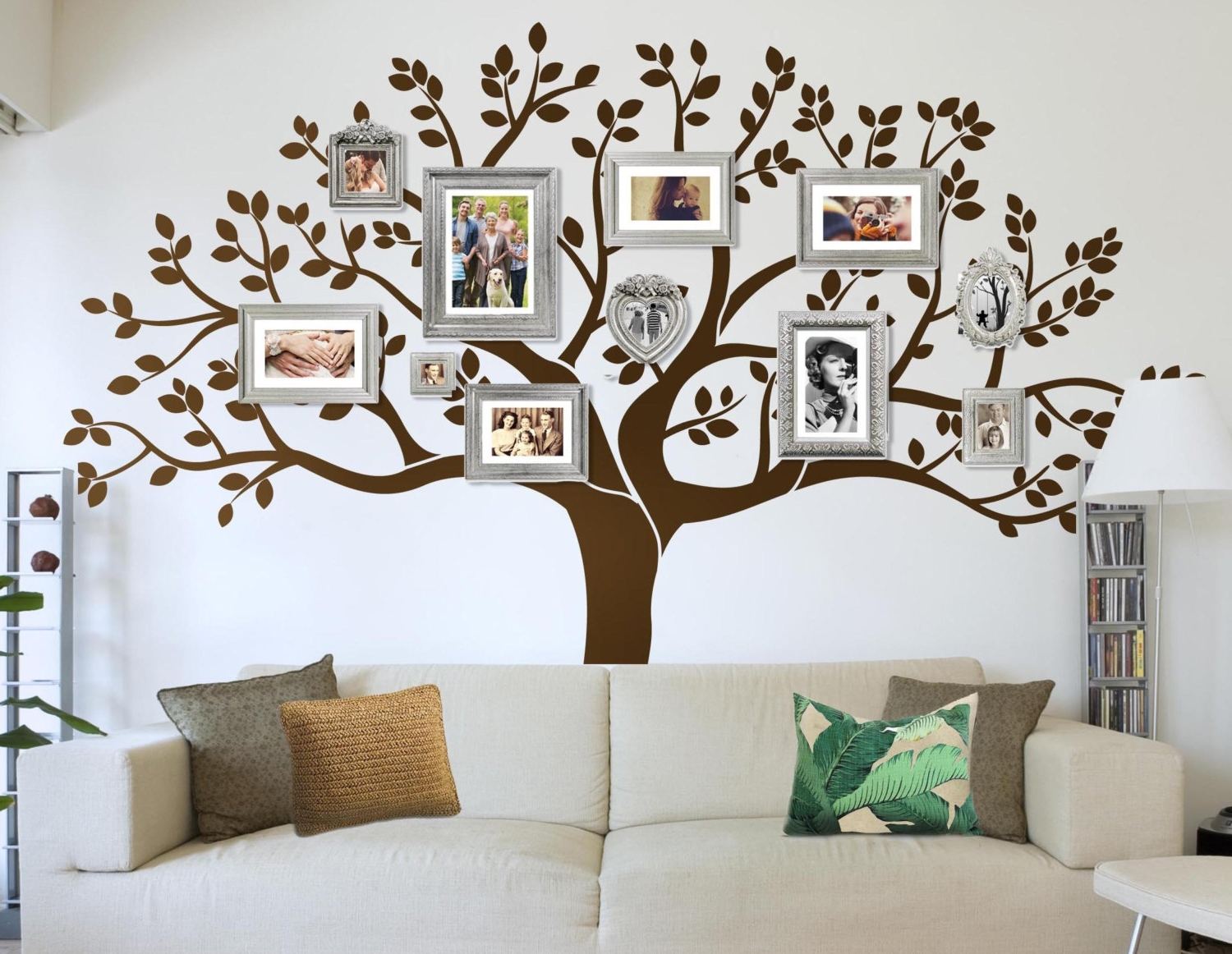 Family Photo Wall Art For Most Popular Family Tree Wall Art Decal Stickythingscoza (View 15 of 15)